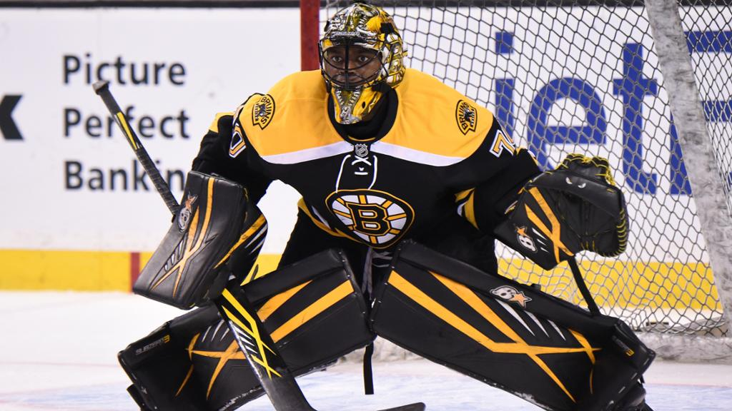 Malcom Subban suddenly finds himself Boston's starting goalie. (Photo via NHL.com)